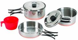 Stansport 1-Person Stainless Steel Cook Set