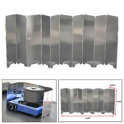 10Pcs Outdoor Wind Shield Camping Grills Wind Panels Gas Sto