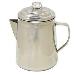 Coleman 12 Cup Stainless Steel Stovetop Camping Coffee Tea P