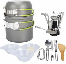 G4Free 13 PCS Aluminum Camping Backpacking Picnic Cookware M