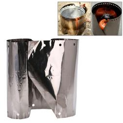 19cm titanium camping stove wind shield camping stove wind s