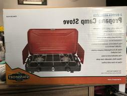STANSPORT 2-BURNER REGULATED PROPANE CAMP STOVE MODEL 203-93