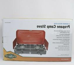 Stansport 2-Burner Regulated Propane Camp Stove - 20,000 BTU