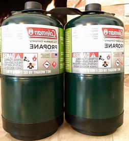 COLEMAN 2 Pk Propane Fuel Bottle Cylinder 16 oz Camping FULL