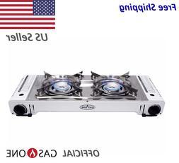 2000 Dual Fuel Portable Propane & Butane Twin Stove with NON