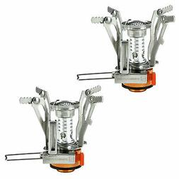 2PC Ultralight Backpacking Gas Butane Propane Canister Outdo