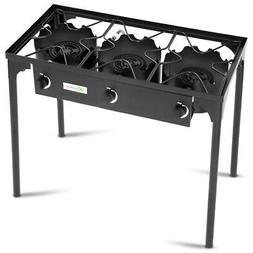 3 burner portable propane gas cooker outdoor