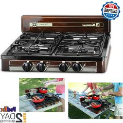 4 Burner Portable Propane Gas Stove Outdoor Camping Cooking