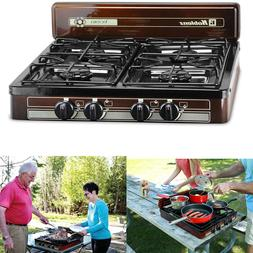 4-Burner Portable Propane Gas Stove Outdoor Camping Cooking
