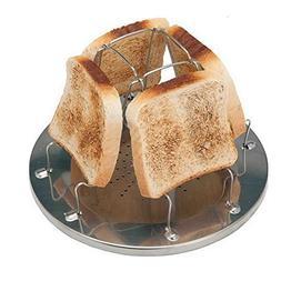 Zaptex 4 Slice Toaster Tray Toast Rack Stove Toaster Stainle