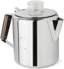 Tops 55703 Rapid Brew Stovetop Coffee Percolator, Stainless