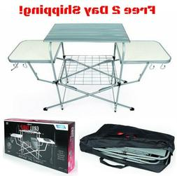 Camco Deluxe Folding Grill Table, Great for Picnics, Tailgat