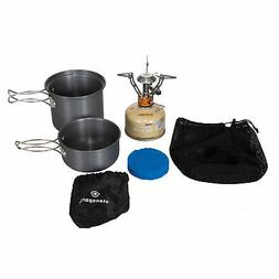 Stansport Backpack Stove, Fuel & Cook Set Weight 21.5 Oz 478