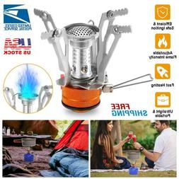 Backpacking Stove Portable Gas Burner Camping Propane Cooker
