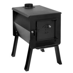 Black Firebox Camp Stove Compact Removable Legs Specialty Gr