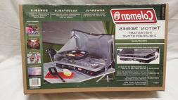 Coleman 765237 2 Burner Triton Series Stove Silver- Blck
