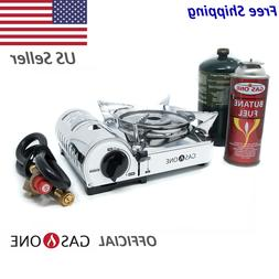 Butane & Propane Dual Fuel Compact Camping Stove Gas One Pro