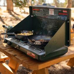 CAMP STOVE PROPANE 2 Burner Outdoor Camping Adjustable Porta