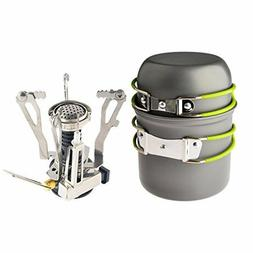 Camp Stove, Petforu Ultralight Portable Outdoor Camping Stov