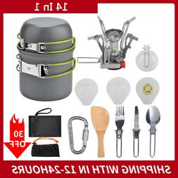 Camping Cookware Kit Portable Cooking Equipment Pot Set Outd