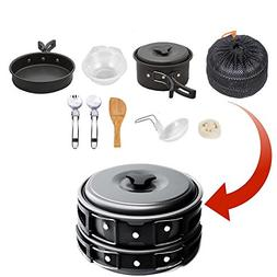 Camping Cookware Mess Kit , camp stove, Backpacking Gear & H