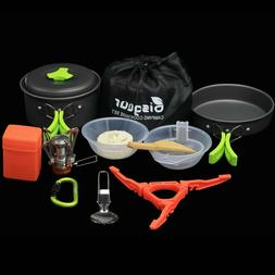 Bisgear Camping Cookware Stove and Cookset NEW