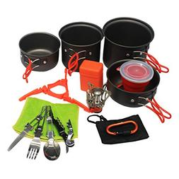 camping cookware stove carabiner canister