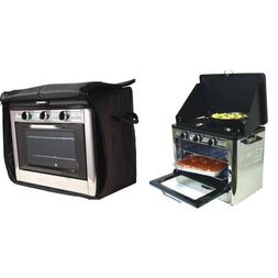 Camp Chef Camping Outdoor Oven with 2 Burner Camping Stove a