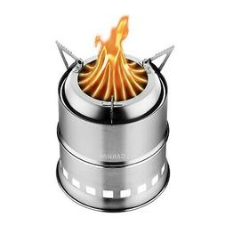 CANWAY Camping Stove, Wood Stove/Backpacking Stove,Portable