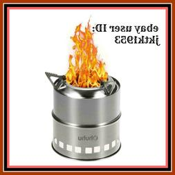 Ohuhu Camping Stove Stainless Steel Backpacking Potable Wood