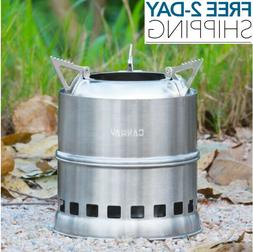 Camping Stove Stainless Steel Backpacking Potable Wood Burni