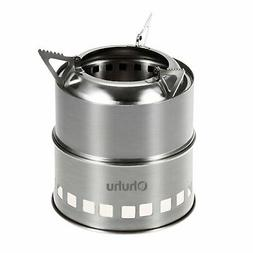 Ohuhu Camping Stove Stainless Steel Backpacking Stove W/Gril