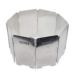 BRS Camping Stove Wind Shield - 8 Plates Folding Camping Pic