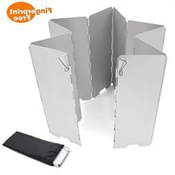 Egofine Camping Stove Windscreen, 10 Plates Aluminum Alloy S