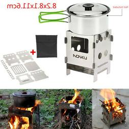 Portable Camping Cooking Stove Picnic Cooker Backpacking Out