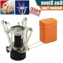Compact Outdoor Picnic Butane Gas Burner Camping Hiking Fold