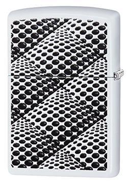 Zippo Dots & Boxes Pocket Lighter, White Matte