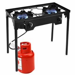 double burner gas propane cooker outdoor camping