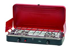 Texsport Dual 2 Burner Propane Stove with Matchless Push But