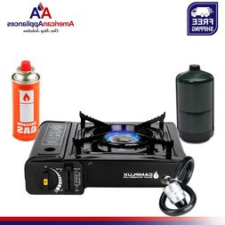 Camplux New Dual Fuel Propane & Butane Portable Outdoor Camp