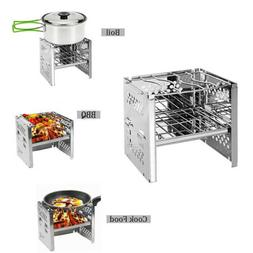 Foldable Barbecue Charcoal Grills Stoves Stainless Steel for