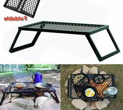 Foldable Grills Camping Stoves Black Metal Stability Stand C