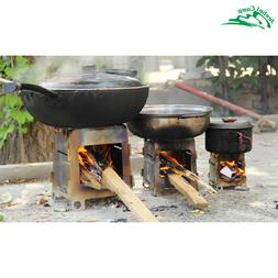 Foldable Wood Stove Outdoor Cooking Camping Alcohol Stainles