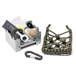 The Friendly Swede Folding Camping Stove with Paracord Bag,