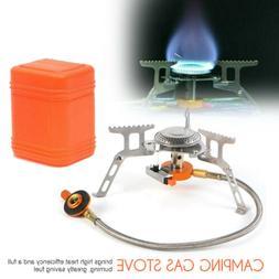 folding portable gas burner fishing outdoor cooking