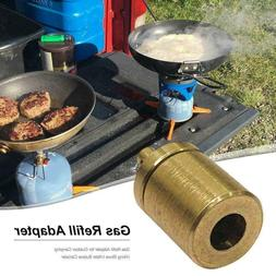 Gas Refill Adapter Outdoor Camping Stove Cylinder Butane Can