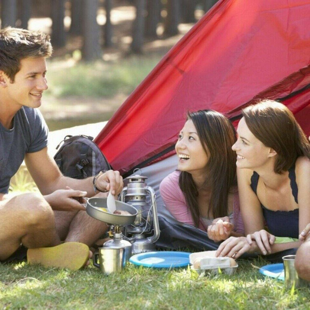 14Pcs Outdoor Camping Stove Hiking Gear Set Picnic