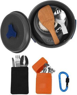 Bisgear Cookware Stove Carabiner Folding Spork