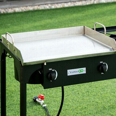 3-Burner Portable Propane Gas Cooker Outdoor Camp Stove 225,000 BTU Grill