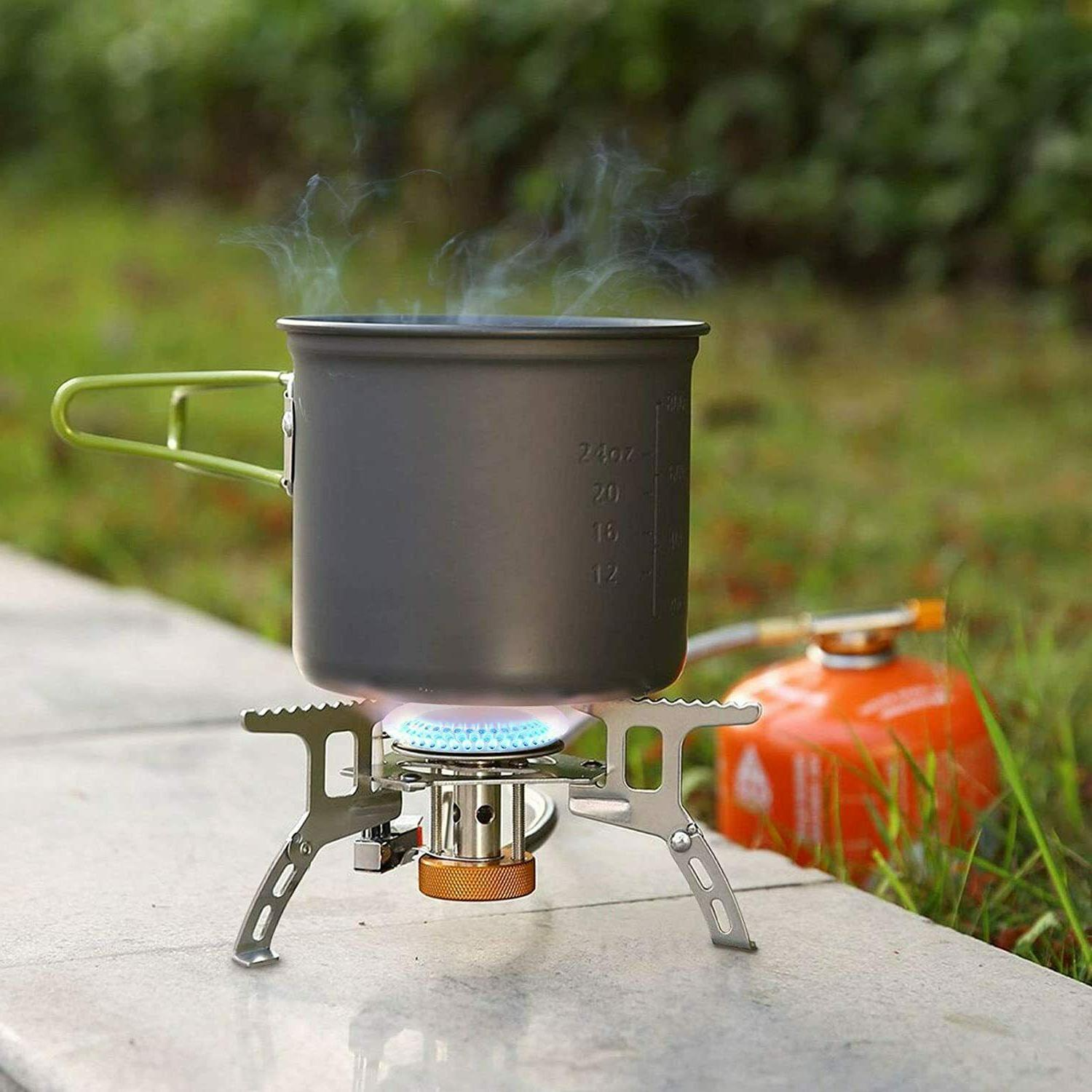 3700W Portable Backpacking Gas with Ignition, Burner,
